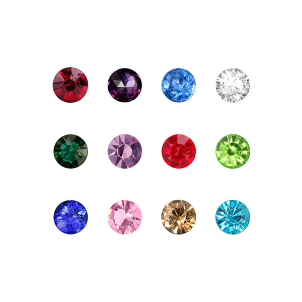 120PCS 3mm/4mm/5mm round shape birthstone charms DIY accessories Mix-color Birthstone Floating Charms For Glass Living Locket