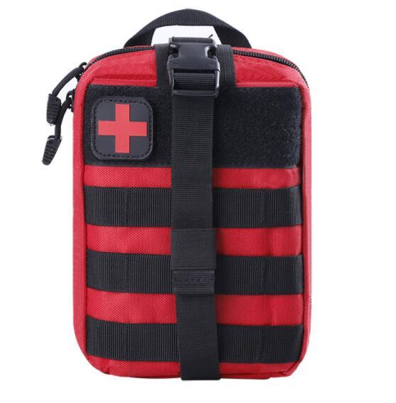 top popular 900D High quality Survival Pouch Outdoor Medical Kit Box Package Tactical First Aid SOS Bag Molle EMT Emergency 2021