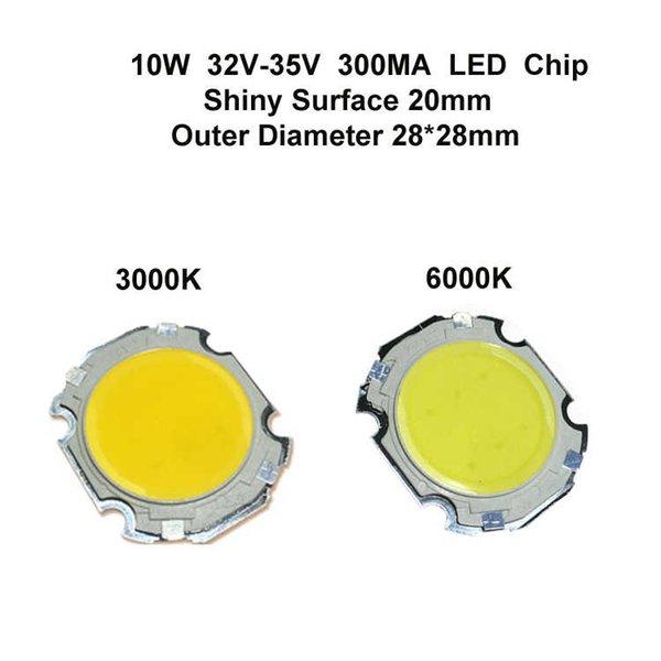 20MM Superfície 10W LED Chip brilhante