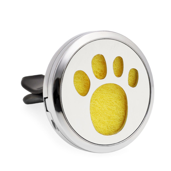Newest Cute Paw 30MM Car Aroma Perfume Locket 316L Stainless Steel Essential Oil Diffuser Perfume Locket