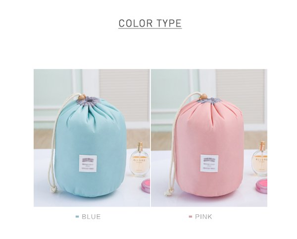 Factory Direct Price Hot Convenient Kit Women Make-up Bags Cosmetic Round Storage Bags Travel Waterproof Bags