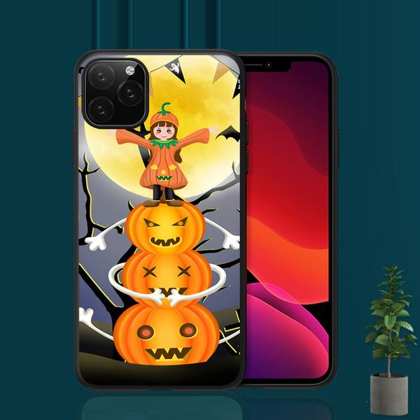 2019 new Halloween Case Happy Pumpkins Cover For iPhone X 11 8 5S 6S 7 Plus Support Wireless Charging Case Capinha de Celular