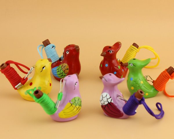 Керамические водоплавающие птицы Whistle Пятнистого WARBLER Song щебечет Домашнее украшение Фигурки Для детей Детских подарков