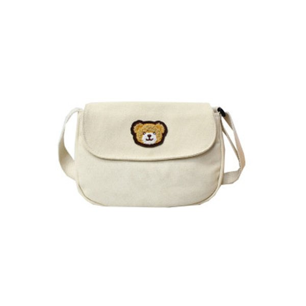 sac à bandoulière en toile pour les filles de haute qualité sacs à bandoulière birdbearduck impression avec noir blanc jaune sacs en toile