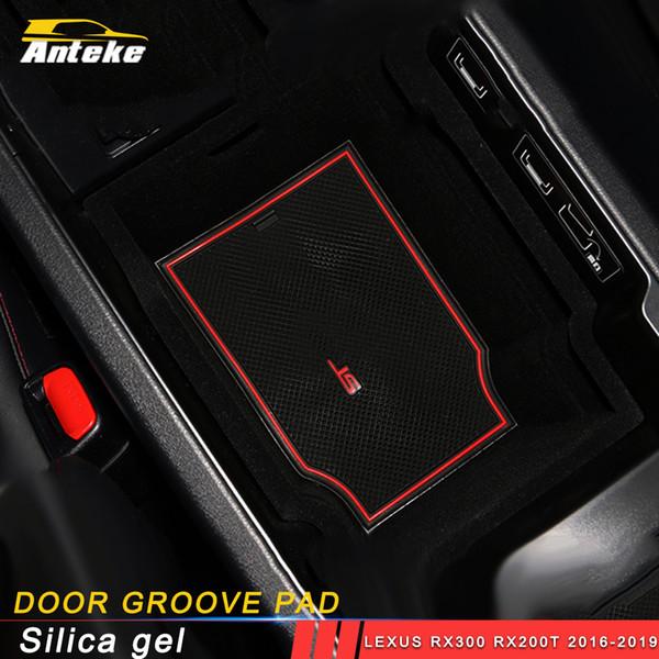 Para Lexus RX300 RX200t 2016-2019 carro denominar porta de borracha esteira ranhura anti-derrapante acessórios interiores portão esteira copo ranhura almofada tapete