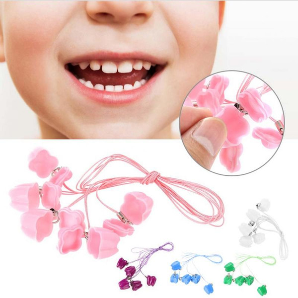 Plastic Baby Milk Tooth Storage Box with Rope Tooth Saver Necklaces