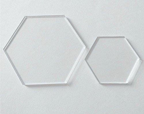 Limpar Acrílico Folha Laser Cut hexágono, hexágono cartões do lugar para números da tabela, Nome do convidado, sinais DIY Acessório
