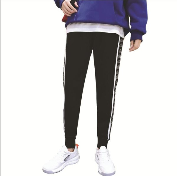 New Fashion Mens Pants Spring Autumn High Street Sports Pants Casual Designer Trousers For Mens Capris Pant 2 Styles Available Size M-4XL