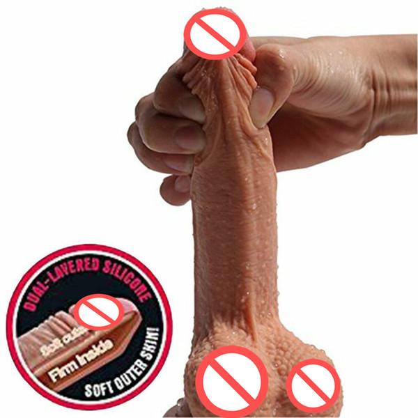 Super Soft Silicone Dildo Realistic Suction Cup Dildo Male Artificial Penis Dick Female Masturbator Adult Sex Toys For Women