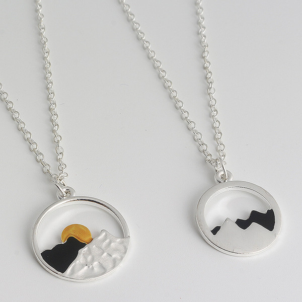 The Mountains Are Calling and I Must Go - Wanderlust Jewelry - Womens Mountain Range Necklaces