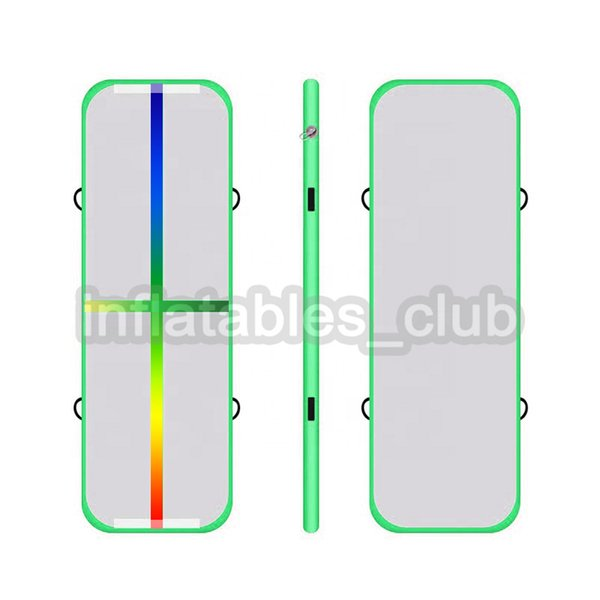 green rainbow line