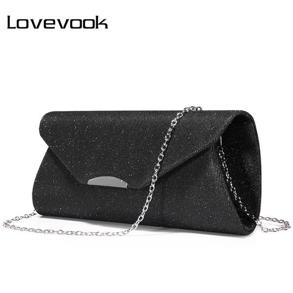 LOVEVOOK embrayages femmes de mode soir sac dames sac à bandoulière femme enveloppent sac à main pour partie avec des chaînes sacs à main dames