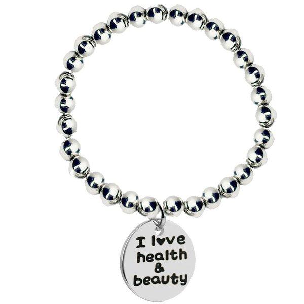 2019 European and American fashion new jewelry english alphabet bracelet lady DIY stainless steel beaded bracelet