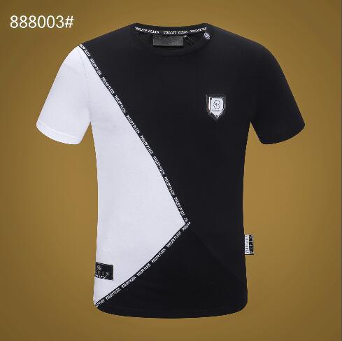 2219 New European and American T-shirt a maniche corte da uomo Bear Grabbed Patterns, stampati e Diamonded Creative Fashion da uomo Tee