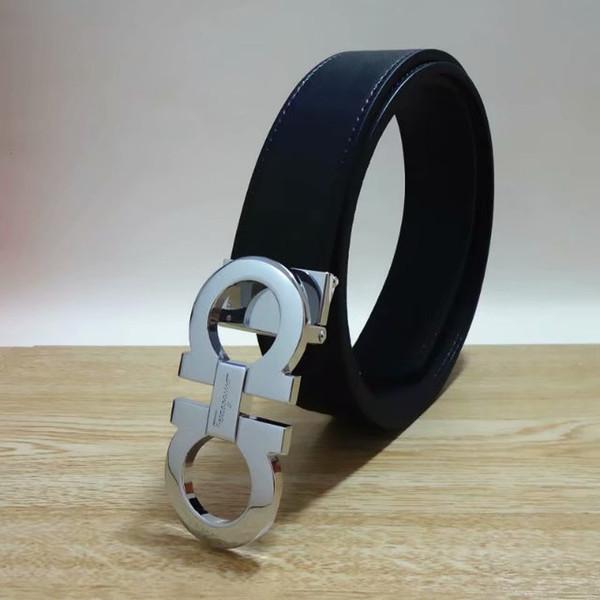 2018 Grande fibbia con cintura da uomo o da donna Cinture alta qualità designer cintura in vera pelle per cinture da donna uomo spedizione gratuita