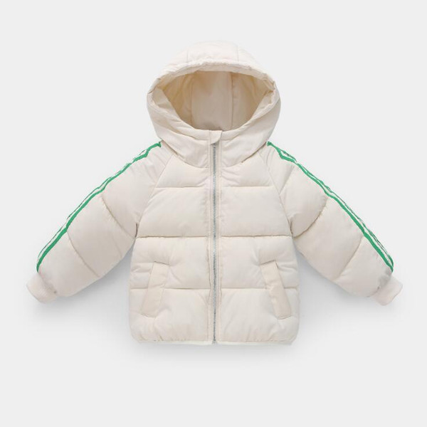 Children's cotton coat 2019 winter new small children boys and girls baby solid color thick warm warm out cotton clothes
