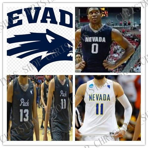 Costumbre Nevada manada de lobos del baloncesto de la universidad cosido cualquier nombre Número Caleb Martin Caroline Cody Martin NCAA jerseys XS-5XL