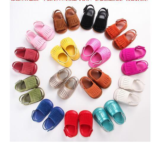Summer small seven 0-1 old toddler shoes for men and women baby shoes fringed rubber bottom non-slip breathable baby shoes sandals 6pair