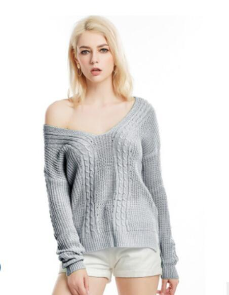 New Long Sleeve Women's Knitted Sweaters in Autumn and Winter of 2019