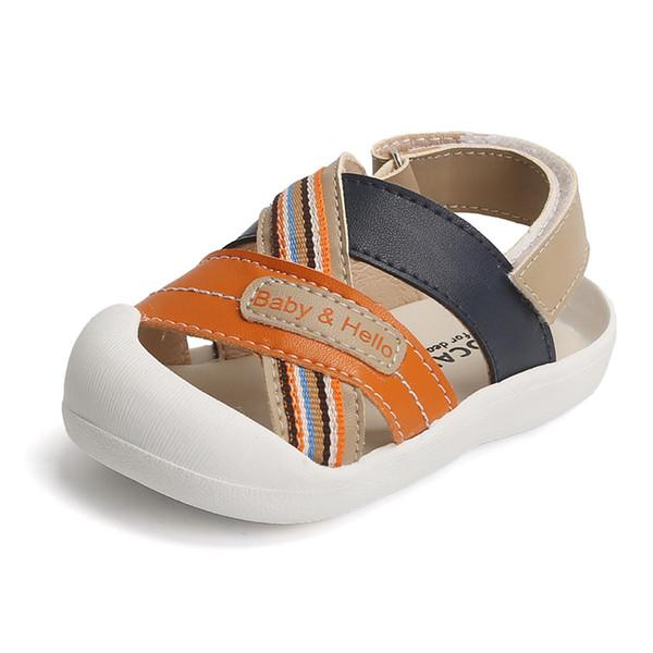 Sandalias de verano para niños. Zapatillas Baotou antideslizantes de suela suave para bebés de 1 a 3 años.
