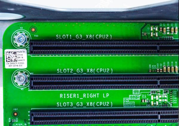 best selling PCI Riser 1 Card PowerEdge R730 R730xd, CPU-2 3 Slots PCI-E X8 4KKCY