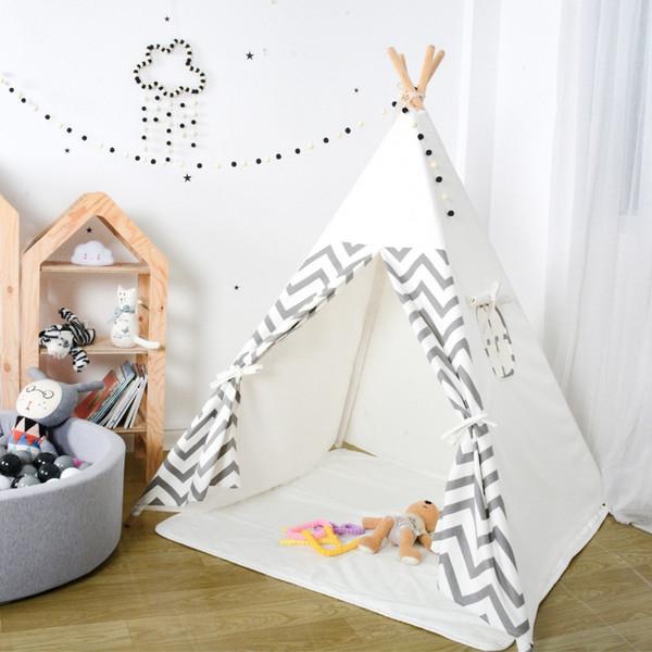 Großhandel Tipi Kinder Zelt Spielzeug Für Kinder Spielhaus Tipi Zelt Für  Kinder Wigwam Indoor Outdoor Room Geburtstag Weihnachtsgeschenk Von ...