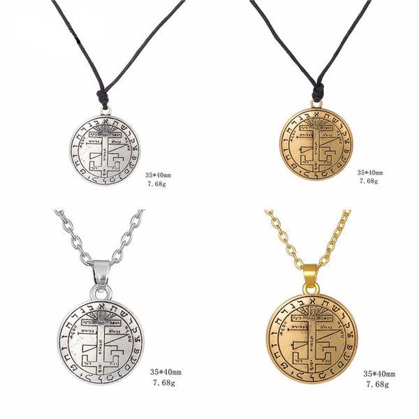 10 stücke verkaufen gut einstellbare wachs seil engel anhänger halskette siegel von erzengel gabriel enochian talisman choker amulett halskette
