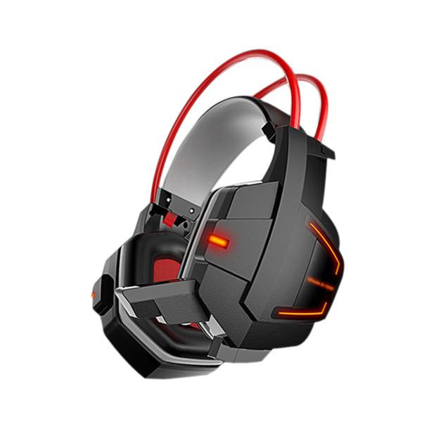 Nuovo arrivo Cuffie stereo da gioco Lampada a LED Cuffie cablate Cuffie Xbox One PS4 Cuffie subwoofer Cuffie con cancellazione del rumore con microfono