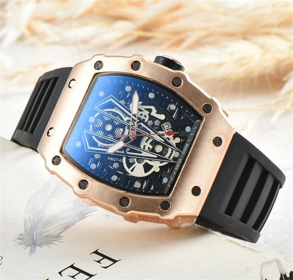 Hot sell New Luxury Quartz men's Ghost head hollow needle Buckle Fashion Skeleton Ghost Dial Men`s Quartz Watches Free Shipping