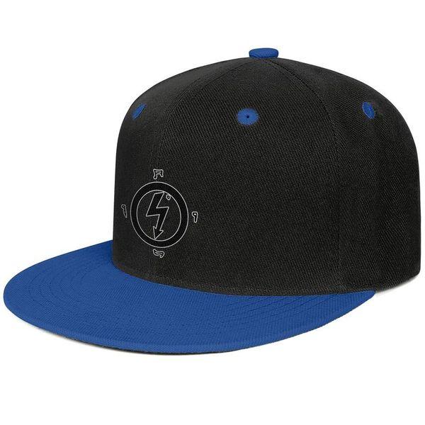 Marilyn Manson Logo Geometry Blue Herren- und Damen-Baseballmütze mit flacher Krempe und cooler Passform entwerfen Ihr eigenes, vintage, personalisiertes, bestes Original