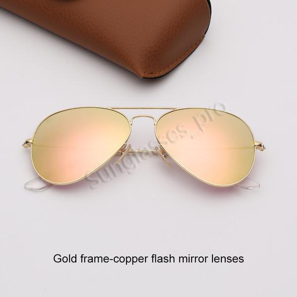 Altın çerçeve-bakır flaş ayna lensleri