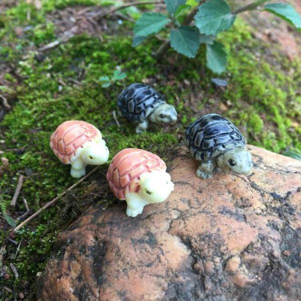 Bonito Mini Resina Tartaruga Jardim De Fadas Miniaturas DIY Casa de Boneca / Tanque / Terrário / Suculentas / Micro Paisagem Decoração ZC1029