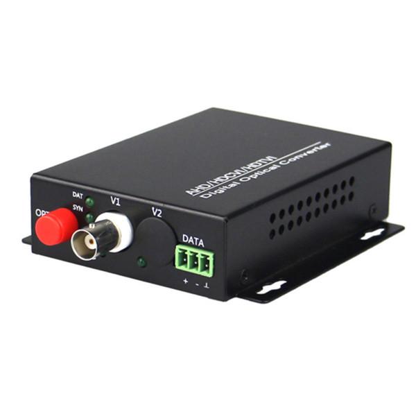 1080 P HD video AHD CVI TVI Fiber optik dönüştürücü, 1-CH video fiber optik verici, tek modlu tek 20 KM