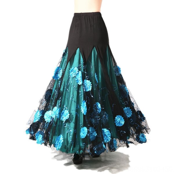 Синий Чистый цветок юбка юбка