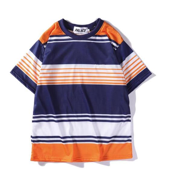G215 palaces splice high quality pure cotton shirt men\'s short-sleeved T-shirt brand women/men\'s T-shirt casual brand T-shirt