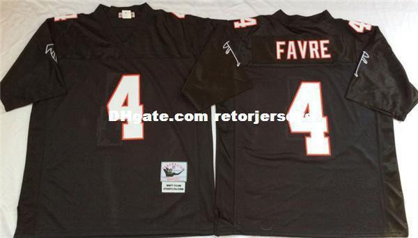 Mens #4 Brett Favre #7 Michael Vick #10 Steve Bartkowski Jersey #21 Deion Sanders Vintage Football Jersey S-5XL