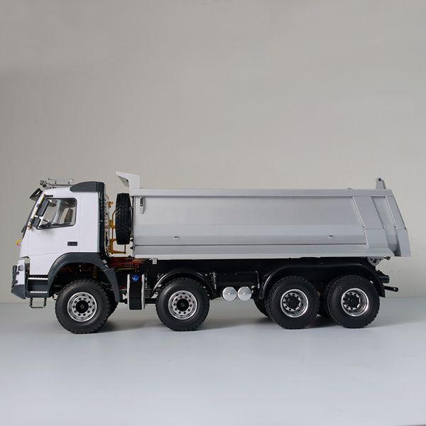 1/14 Rc araba model oyuncaklar tamiya kamyon 1/14 8X8 ARMAGEDDON HIDROLIK DÖKÜMÜ KAMYON (FMX)
