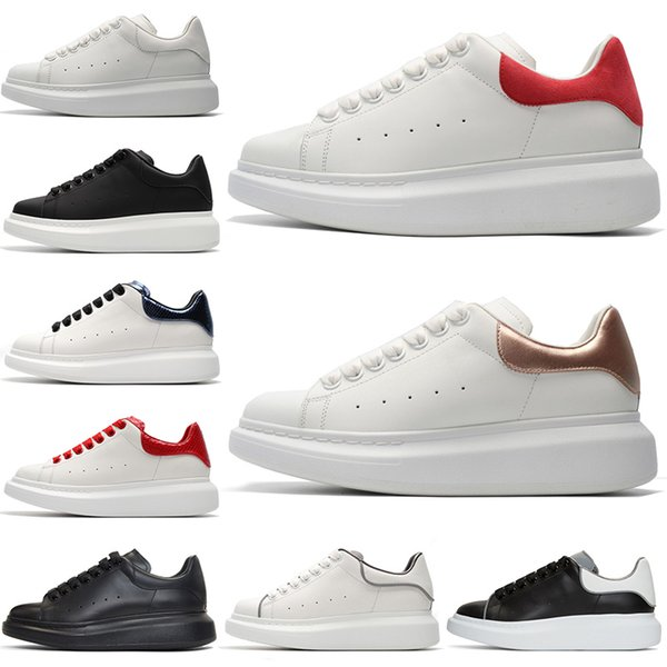 Leather Platform Luxury Rose Gold Red Suede Womens Trainers Silver Glitter Casual Shoes Mens Sneakers Black White Reflective Tennis Shoes