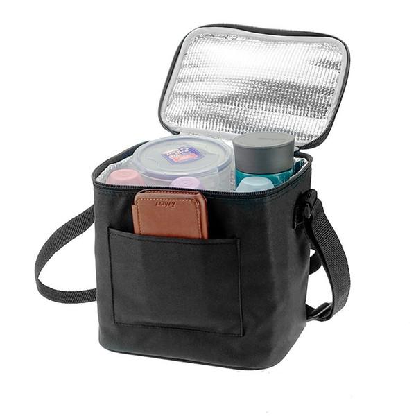 Feeding Bottle Nylon Insulated Cooler Zipper Fresh Keeping Bag Single Shoulder Heat Preservation Portable Package Ice Pack 17 5njb1
