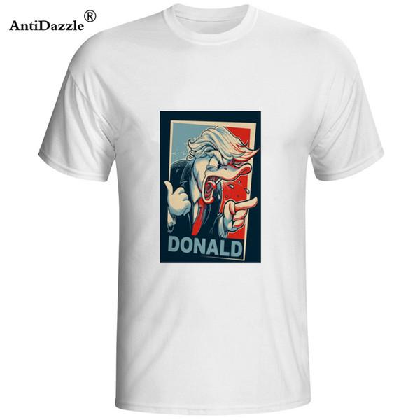 Antidazzle New Verão marca Donald Trump Engraçado Dos Homens T Camisa Costume-Manga Curta T Shirt frete grátis