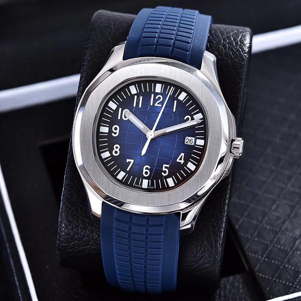 2019 luxo relógio Aquanaut movimento Automático de aço inoxidável confortável pulseira de borracha cinta original homens homens relógio do relógio