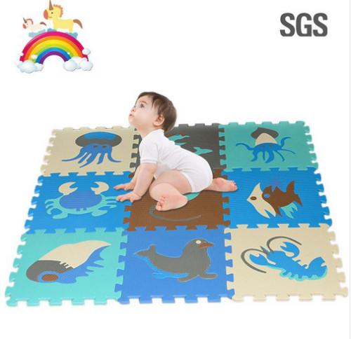 best selling 9Pcs Soft EVA Foam pad Alphabet Letters Numbers Floor Blacks Soft Baby Foam Mat 3d Educational puzzle toys for baby games