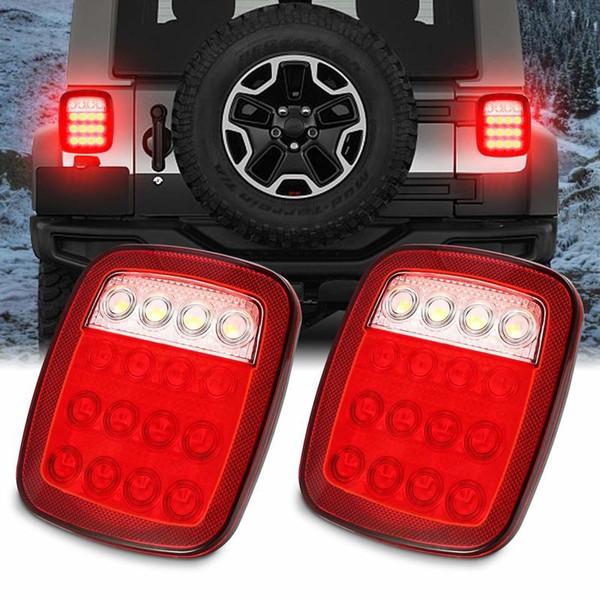 LED Universal remorque feux arrière frein arrière Tourner Signal Running Back Up feux stop arrière pour YJ JK CJ Van pick-up