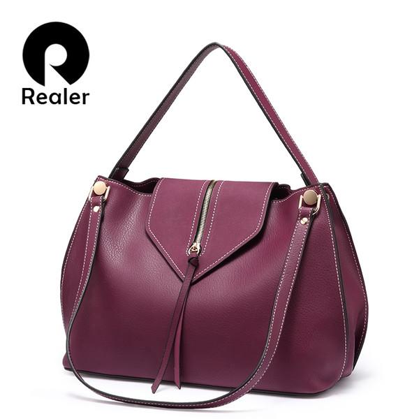 REALER frauen handtaschen designer umhängetasche hochwertige hobo taschen damen kunstleder umhängetasche tote messenger weiblich # 34308