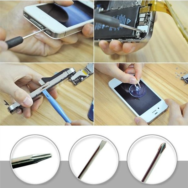 Professional 11 in 1 Cell Phones Opening Pry Repair Tool Kits Smartphone Screwdrivers Tool Set For iPhone Samsung HTC Moto Sony