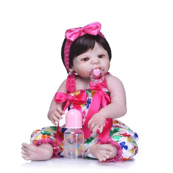 Bebe reborn full silicone reborn baby dolls handmade child bathe toys princess baby Doll kid lol dolls