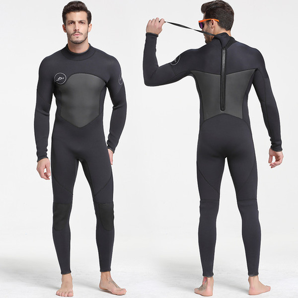 top popular SBART Men's 5mm Black Grey Wetsuit for Scuba Diving Surfing Fullsuit Jumpsuit Wetsuits Neoprene Wet Suit Men 2021