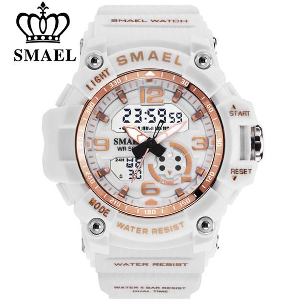 Sportuhr Digitale Frau SMAEL Frauen Uhr Armband Damen Armee LED Uhr reloj mujer 1808 Frauen Wasserdichte Uhren
