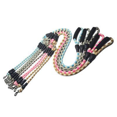 ПЭТ двойная головка тягового каната хлопок цвет поводок для собак один перетащить два двойной крюк собака поводок цепи