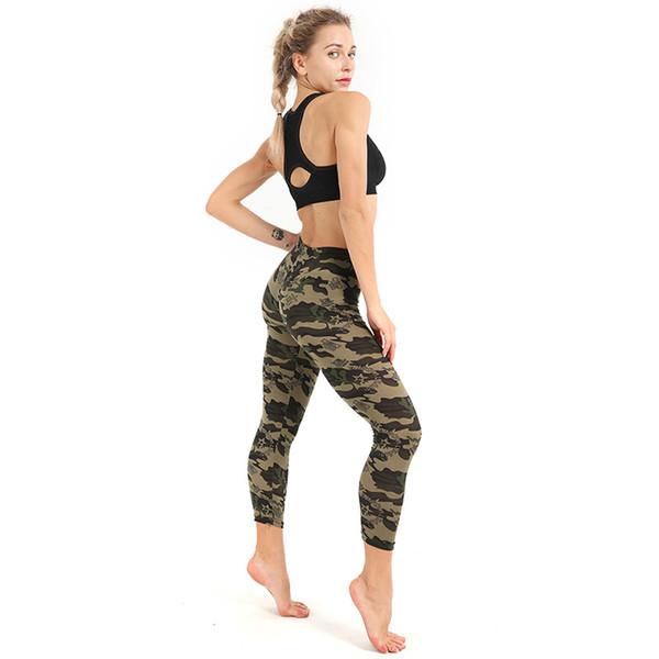 2019 Women High Waist Pants Fitness Gym Sports Leggings Running Camouflage Legging Seamless Compression Training Pants